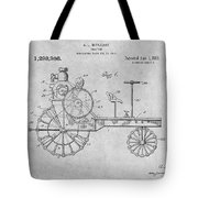 1919 Antique Tractor Gray Patent Print Tote Bag