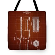 1919 Baseball Bat - Dark Red Blueprint Tote Bag