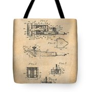 1919 Motor Driven Hair Clipper Antique Paper Patent Print Tote Bag