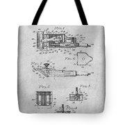 1919 Motor Driven Hair Clipper Gray Patent Print Tote Bag
