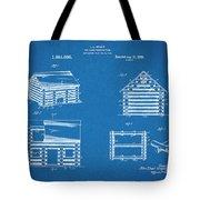 1920 Lincoln Logs Blueprint Patent Print Tote Bag