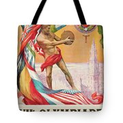 1920 Summer Olympics Vintage Poster Tote Bag