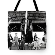 1920s 1930s Group Of Passengers Waiting Tote Bag