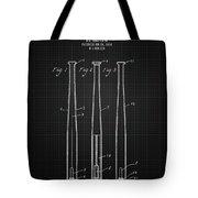 1924 Baseball Bat - Black Blueprint Tote Bag
