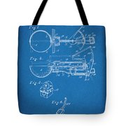 1924 Ice Cream Scoop Blueprint Patent Print Tote Bag