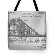 1927 Roller Coaster Gray Patent Print Tote Bag