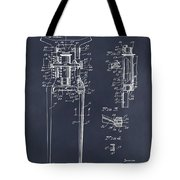 1929 Harley Davidson Front Fork Blackboard Patent Print Tote Bag