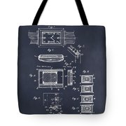 1930 Leon Hatot Self Winding Watch Patent Print Blackboard Tote Bag