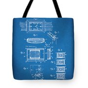 1930 Leon Hatot Self Winding Watch Patent Print Bluebrint Tote Bag