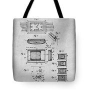 1930 Leon Hatot Self Winding Watch Patent Print Gray Tote Bag