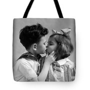 1930s Two Children Young Boy And Girl Tote Bag