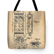 1931 Self Winding Watch Patent Print Antique Paper Tote Bag