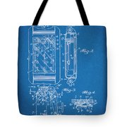 1931 Self Winding Watch Patent Print Blueprint Tote Bag