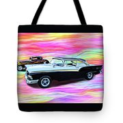 1932 And 1957 Fords Tote Bag
