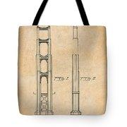 1932 San Francisco Golden Gate Bridge Antique Paper Patent Print Tote Bag