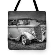 1933 Ford Tudor Sedan With Trailer Tote Bag