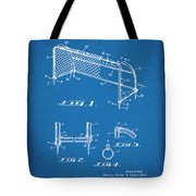 1933 Soccer Goal Blueprint Patent Print Tote Bag