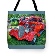1934 Ford 3 Window Coupe Hot Rod Tote Bag