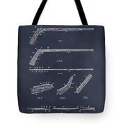 1934 Hockey Stick Patent Print Blackboard Tote Bag