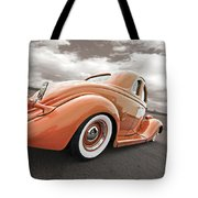1935 Ford Coupe In Bronze Tote Bag