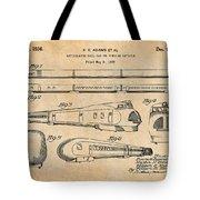 1935 Union Pacific M-10000 Railroad Antique Paper Patent Print Tote Bag