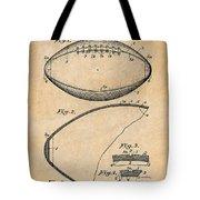 1936 Reach Football Antique Paper Patent Print Tote Bag
