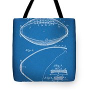 1936 Reach Football Blueprint Patent Print Tote Bag