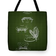 1936 Toilet Seat - Dark Green Blueprint Tote Bag