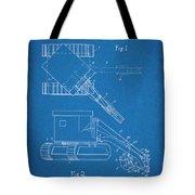 1937 Backhoe Excavator Blueprint Patent Print Tote Bag