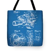 1938 Bell And Howell Movie Camera Patent Print Blueprint Tote Bag