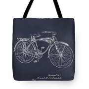1939 Schwinn Bicycle Blackboard Patent Print Tote Bag