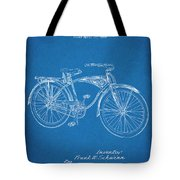 1939 Schwinn Bicycle Blueprint Patent Print Tote Bag