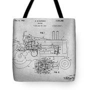 1942 John Deere Tractor Gray Patent Print Tote Bag