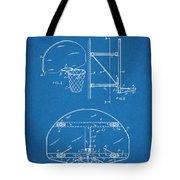 1944 Basketball Goal Blueprint Patent Print Tote Bag