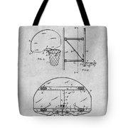 1944 Basketball Goal Gray Patent Print Tote Bag