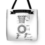 1951 Basketball Goal - Black Retro Style Tote Bag