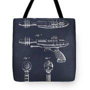 1953 Ray Gun Toy Pistol Blackboard Patent Print Tote Bag