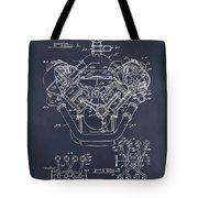 1954 Chrysler 426 Hemi V8 Engine Blackboard Patent Print Tote Bag