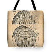 1954 Geodesic Dome Antique Paper Patent Print Tote Bag