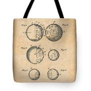 1954 Wiffle Ball Patent Print Antique Paper Tote Bag