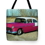 1955 Chevrolet 150  Tote Bag