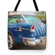 1955 Chevrolet Bel Air Nomad Station Wagon 228 Tote Bag