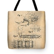 1960 Bombardier Snowmobile Antique Paper Patent Print Tote Bag