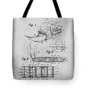 1960 Bombardier Snowmobile Gray Patent Print Tote Bag