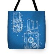 1960 Rolleiflex Photographic Camera Blueprint Patent Print Tote Bag