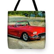 1962 Corvette Roadster Custom Tote Bag