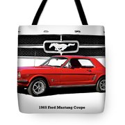 1965 Mustang 289 Coupe Tote Bag
