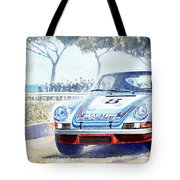 1973 Targa Floria Porsche 911 Carrera Rsr Martini Racing Lennep Muller Winner  Tote Bag