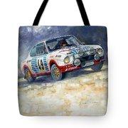 1977 Rallye Monte Carlo Skoda 130 Rs Blahna Hlavka Winner Tote Bag