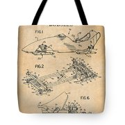 1982 Bobsled Antique Paper Patent Print  Tote Bag